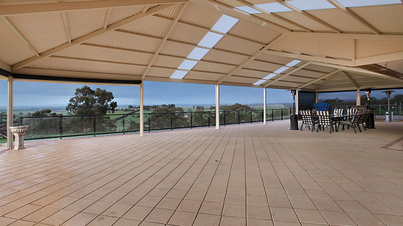 Large Span Split Ridge Gable Pergola by Creative Outdoors in One Tree Hill