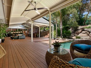 Split Ridge Design Gable Pergola by Creative Outdoors in Tea Tree Gully